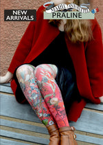 Marie Antoilette PRALINE Printed Tights (Luxury French Hosiery)