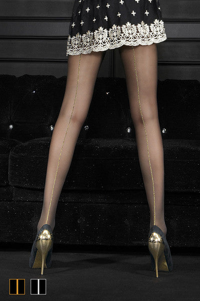 Oroblu RIGA LUX Pantyhose/Tights (Gold or Siver Back Seam)
