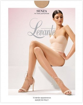 Senza Open Toe 10 Denier Pantyhose/Tights - Levante Hosiery