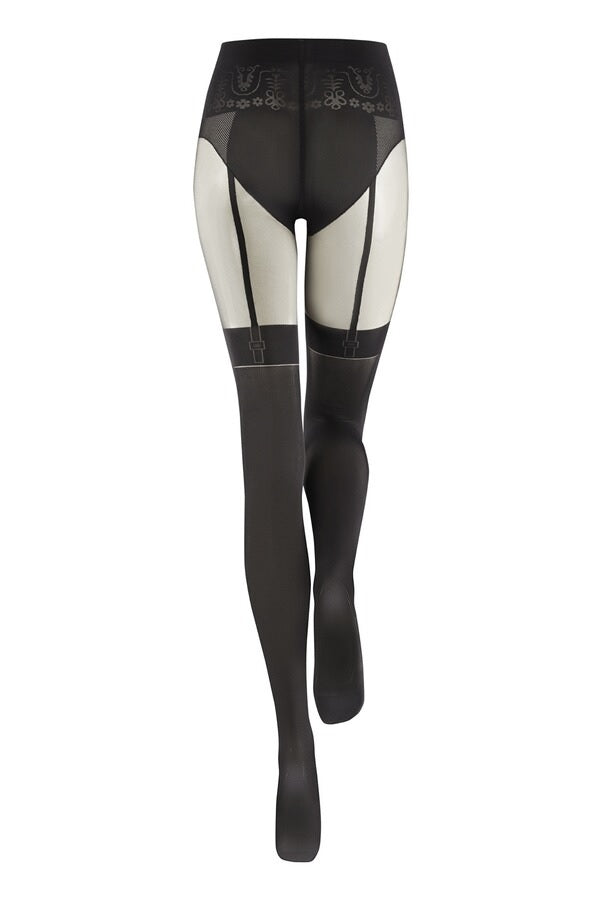 Kunert SHOW YOUR SECRETS Pantyhose/Tights (Suspender Look!)