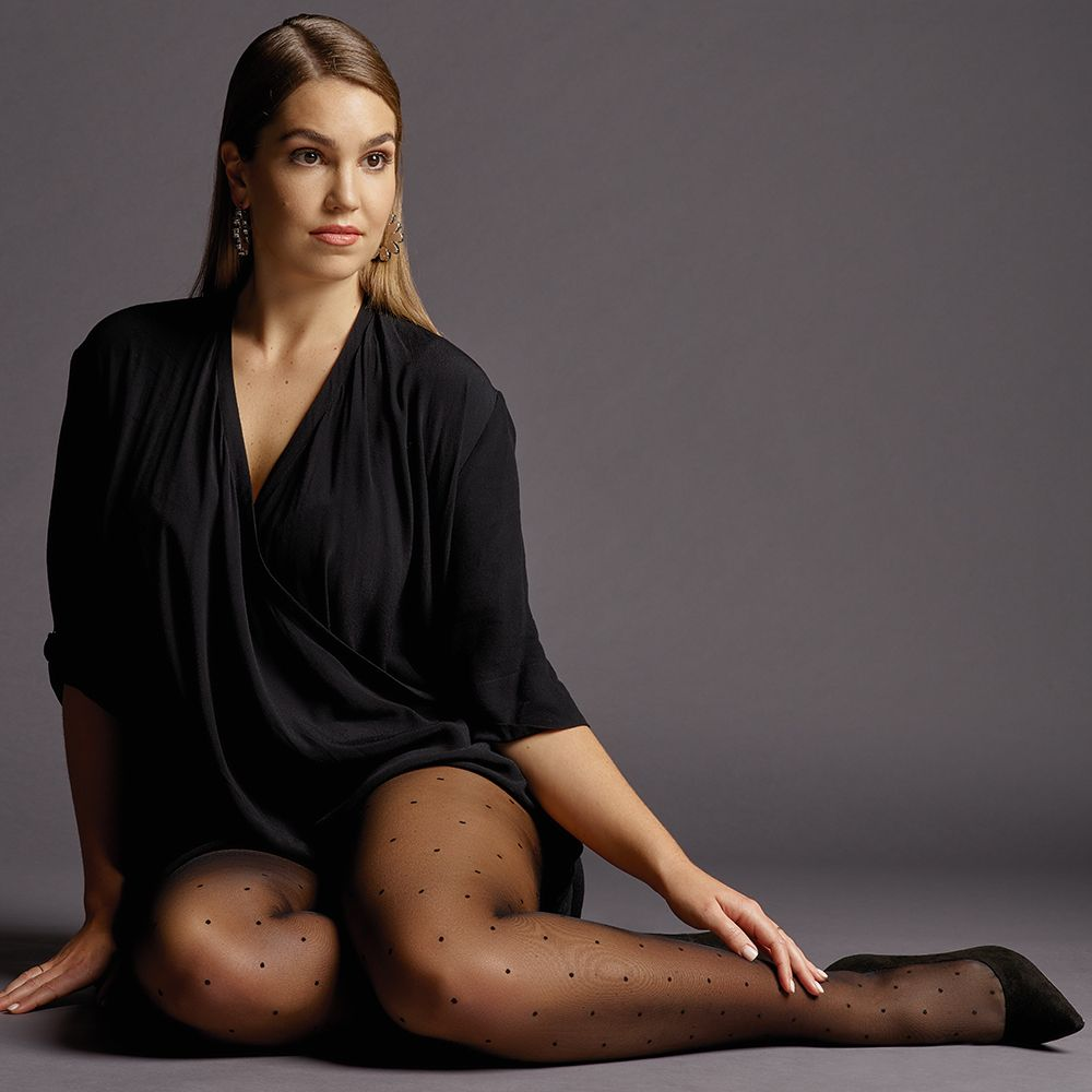 Levante SIENNA Extra (Plus Size) Fuller Figure Sheer Spot Tights