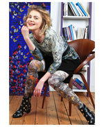 Marie Antoilette SOUS LE VENT Printed Leggings (Unique One Of A Kind)