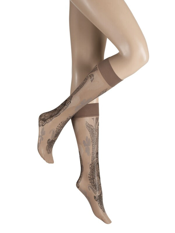 Kunert SPRING KNEE HIGH SOCKS (Paisley Pattern) 171110