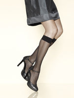 Gerbe French Hosiery Sunlight 15 Denier Knee Highs - Starts with Legs