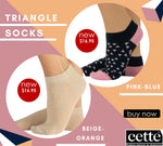 Cette TRIANGLE Fashion Cotton Socks (European Sporty Fashion) 264-12