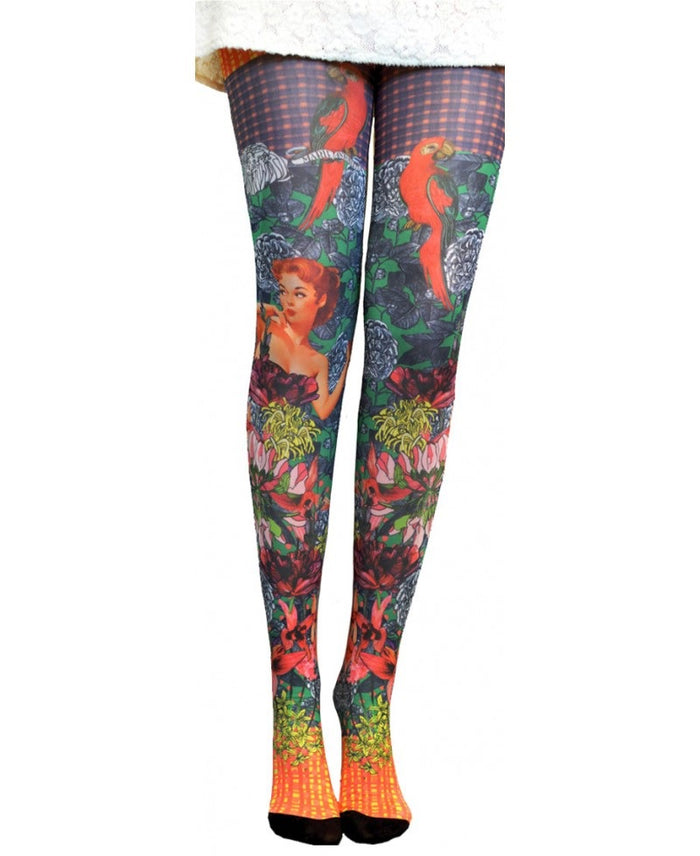 bf7fa4789bbd3 NEW *Marie Antoilette VENUS Printed Tights (Luxury French Hosiery)