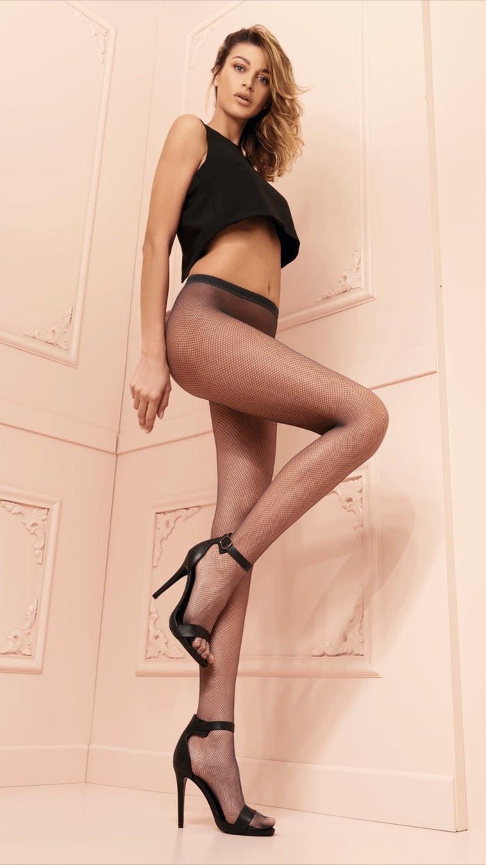Ambra Fishnet Pantyhose/Tights - Trasparenze Hosiery and Starts with Legs