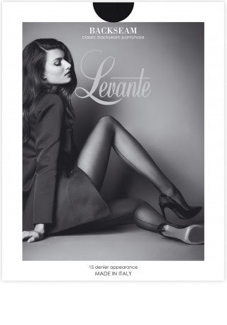 Levante Italian Hosiery Back Seam Pantyhose/Tights - Starts with Legs