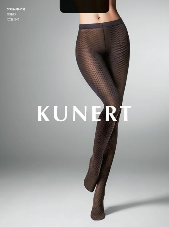 Kunert CHECK Pantyhose/Tights (Graphic Check Pattern Extravagance ) 367110