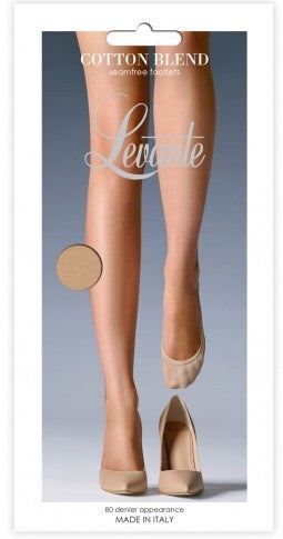 Levante FOOTLETS COTTON SEAMFREE  Italian Hosiery - Starts with Legs