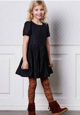 MP Denmark Children DAISY AUTUMN COTTON Tights (Warm Ochre Pattern) 39006
