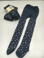 MP Denmark Children NAVY/PINK DOTTY COTTON Tights