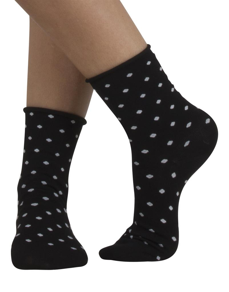 Dot Cotton Sock - Cette Hosiery and Starts with Legs