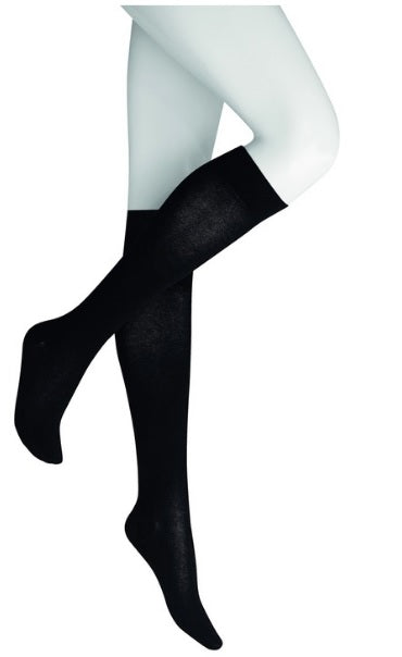 Kunert Fly & Care Knee Highs Cotton Class 3 Compression Blue, Black and Grey - Starts with Legs