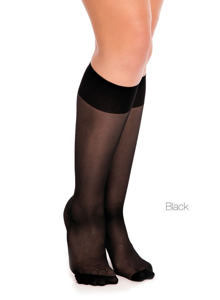 Glamory FIT 20 Knee High Stockings Plus Size (Extra Wide)