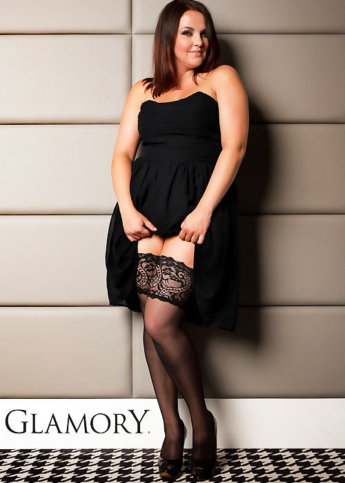 Glamory COUTURE 20 Hold Ups Plus Size (Pin Up Look)G50315