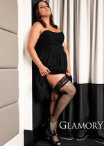 Glamory MESH Hold Ups Plus Size (Sensuality to any outfit)G-50352