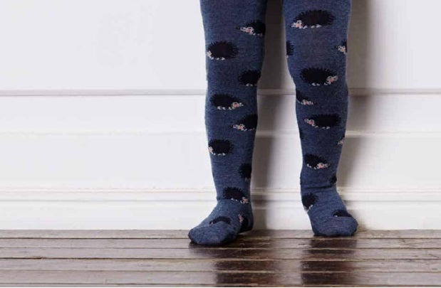Childrens Hedgehog Wool Tights- MP Denmark and Starts with Legs