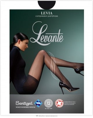 Levante Italian Hosiery LEVIA Therapeutic 70 Compression Pantyhose/Tights - Starts with Legs