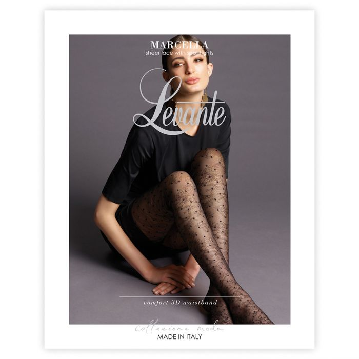 Levante MARCELLA Pantyhose/Tights (Sheer Lace with Spot Tights)