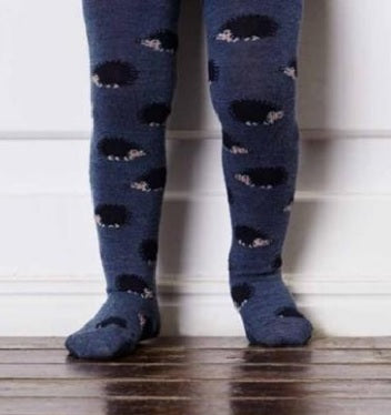 MP Denmark Children's Marcus Hedgehog Wool Tights-  Starts with Legs