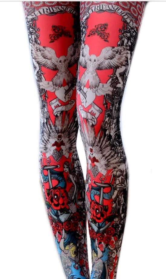Julia Printed Tights - Marie Antoilette Hosiery and Starts with Legs