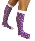 Jinni PURPLE SHAMROCK MEDICAL COMPRESSION KNEE HIGH SOCK Plus Size Available