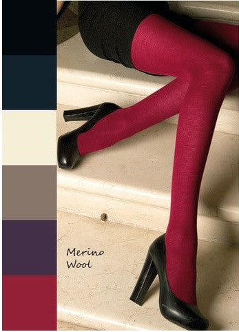 Jennifer Merino Wool Tights rainbow of colours (available in Plus Size) - Trasparenze Hosiery
