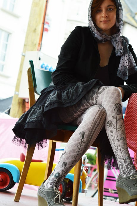 Marie Antoilette RAIPONCE Printed Tights (Luxury French Hosiery)