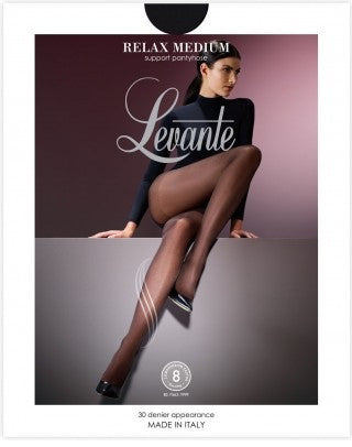 Levante Hosiery - Relax Medium Support Pantyhose/Tights Londra and Black only
