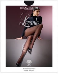 Relax Medium Support Pantyhose/Tights - Levante Hosiery
