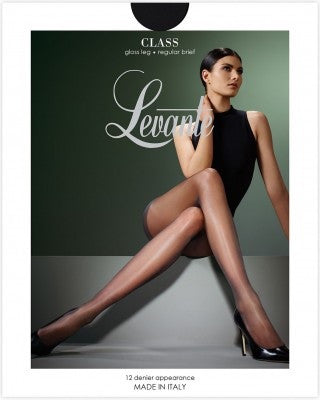 Levante Class Regular Brief Gloss Shine 12 Denier Sheer to Waist Italian Hosiery Pantyhose/Tights - Starts with Legs