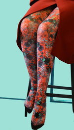 Marie Antoilette ANTOINETTE ROUGE Printed Tights/Pantyhose (Luxury French Hosiery)
