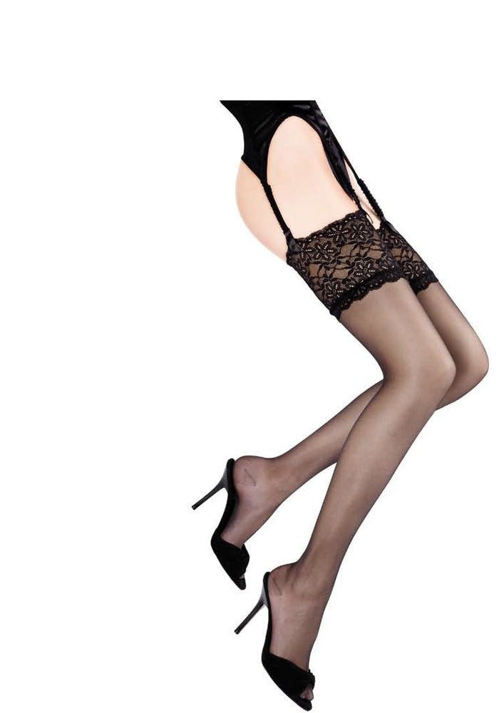 Cervin French Hosiery Sensual Stockings - Black, White, Gazelle (available in Plus Size) - Starts with Legs
