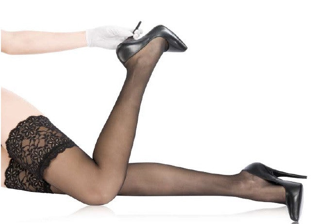 Cervin French Hosiery Sensual Stay Ups/Hold Ups (available in Plus Size) - Starts with Legs