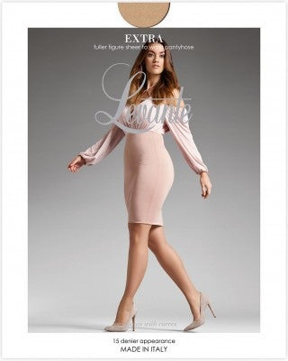 Extra Bella Sheer To Waist 15 Denier Pantyhose/Tights (Plus Size) - Levante Hosiery and Starts with Legs