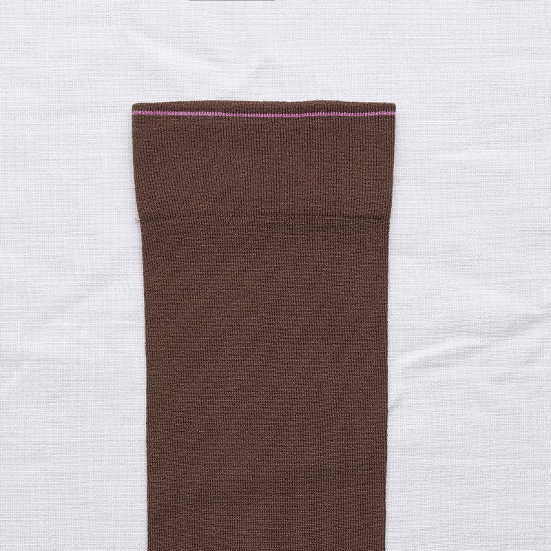 Bonne Maison CHESTNUT Cotton Unisex Socks UN178 (Brown)