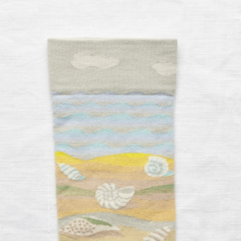 Bonne Maison MULTICO SEASHELL Cotton Unisex Socks MF901 (Sky Blue)