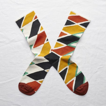 Bonne Maison MULTICO ZIGZAG Cotton Unisex Socks LY101 (Multicolour)