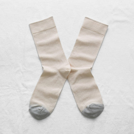 Bonne Maison NATUREL Cotton Unisex Socks UN101 (Natural)