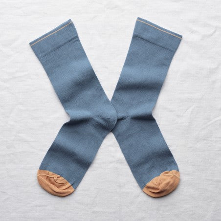 Bonne Maison Paradise Blue Cotton Unisex Socks UN188
