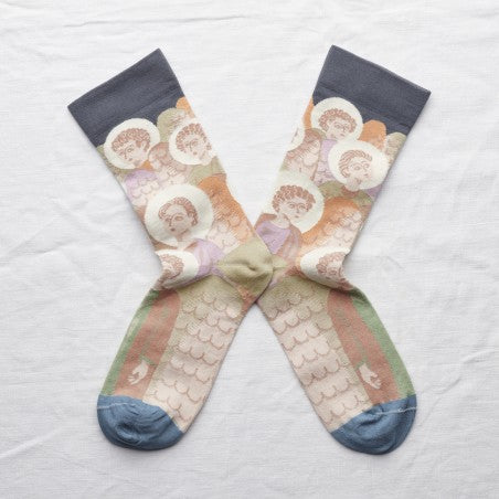 Bonne Maison STEEL ANGEL Cotton Unisex Socks NO701 (Multicolour)
