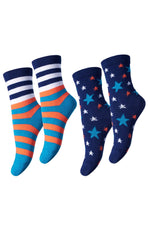 MP Denmark Children STAR & STRIPES WOOL Socks 2Pack (Scandinavian Luxury Hosiery)
