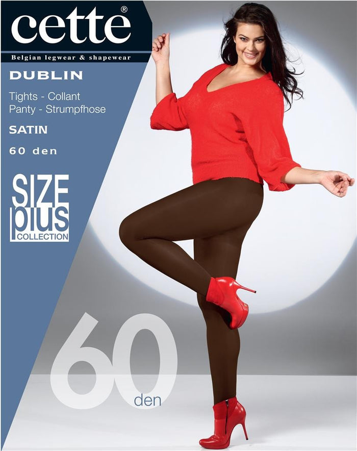 Dublin Rainbow of Colours Opaque Pantyhose/Tights (Plus Size) - Cette Hosiery and Starts with Legs