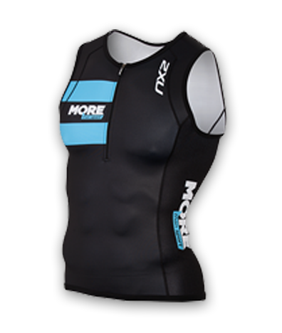 Mens 2XU Long Distance Tri Singlet