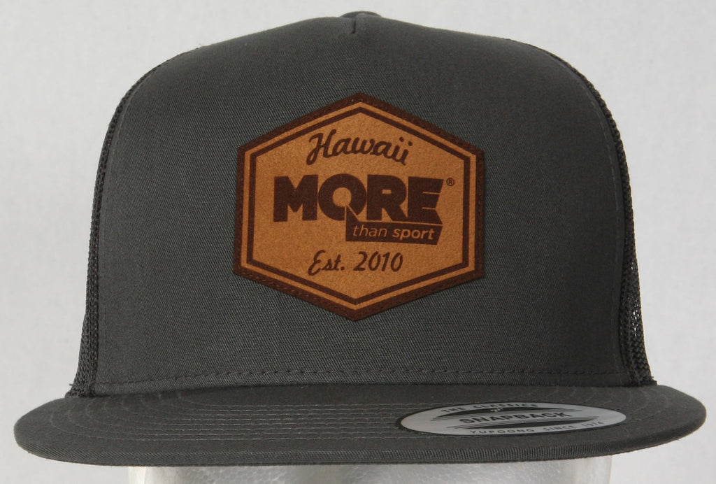 More Than Sport Leather Patch Snapback