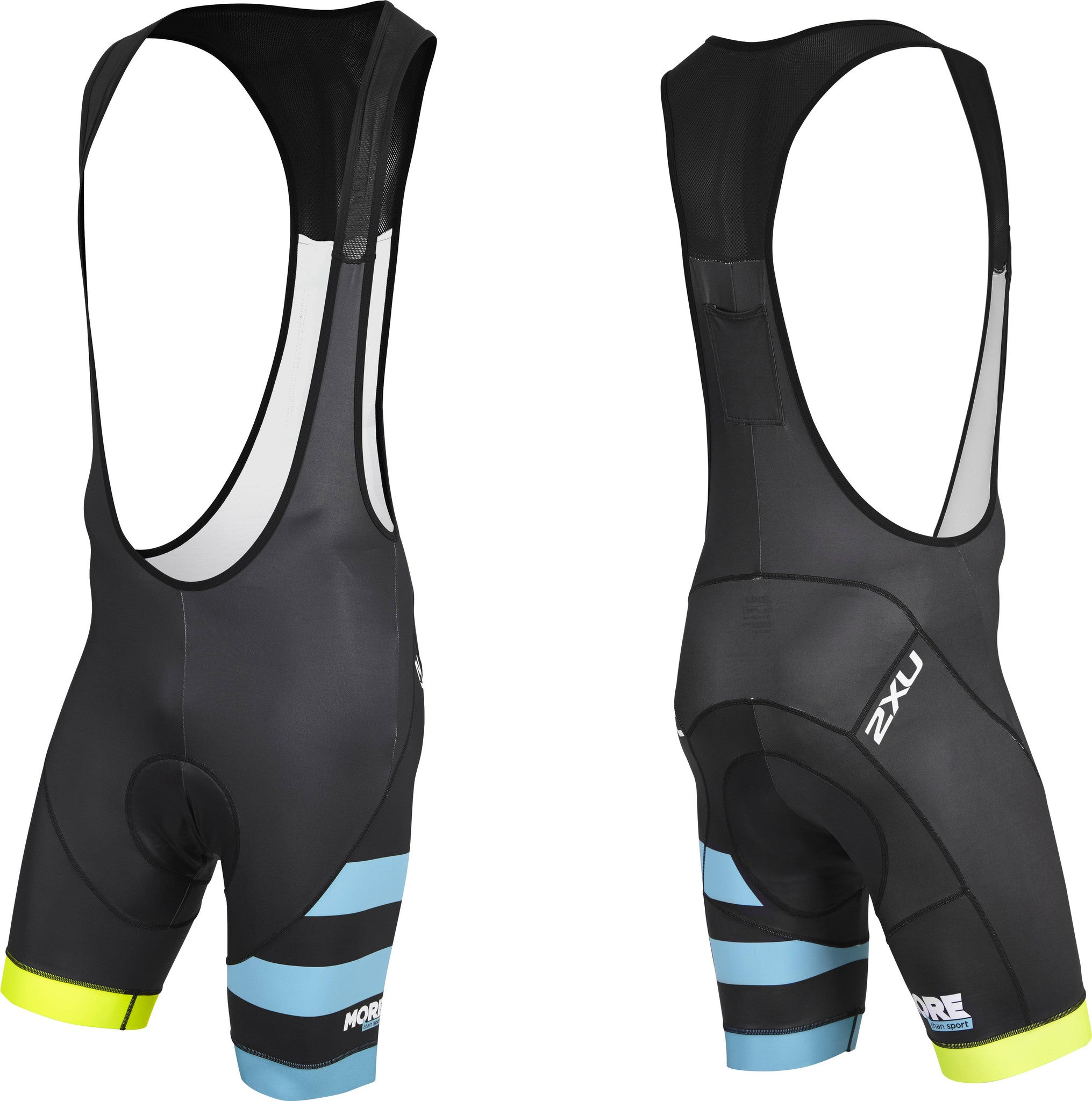 Mens 2XU Elite Cycling Bib (Fluro)