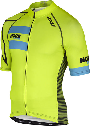 Mens 2XU Elite 2 Cycle Jersey (Fluro)