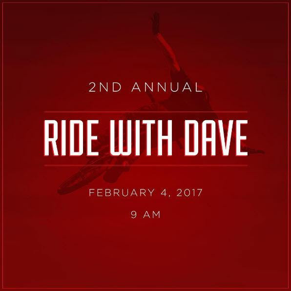 Ride with Dave Mirra 2017 Tee *SOLD OUT*