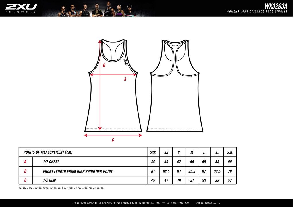 Women's 2XU Long Distance Run Singlet